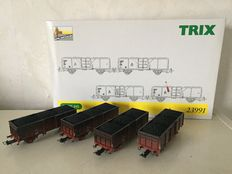 Trix H0 - 23991 - Carriage set Charcoal DB