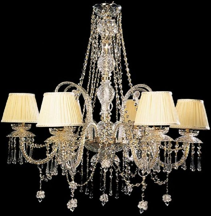 Maria-Teresa style chandelier with Swarovski crystals and Murano glasses - 21st C