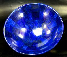 Hand Made Highly Grade Lapis Lazuli Bowl - 313 Gram , 123 x 51 mm