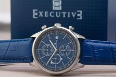 Executive chronograph – men's wristwatch – in new condition, 0122