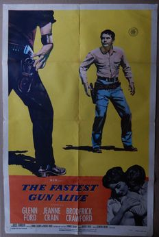 Western movies - 20x original American film posters from the '40/'50'60/'70 - Gregory Peck, Dean Martin, Audie Murphy, Charles Bronson, Glenn Ford, Robert Taylor, Richard Widmark