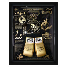 Signed Manny Pacquiao Legacy Limited Edition Cleto Reyes Boxing Glove Display.