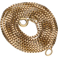 14 k gold Venetian link necklace – Length:  56 cm