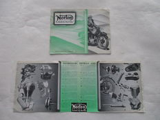 Norton - Original old brochure Norton motorbikes - 1939