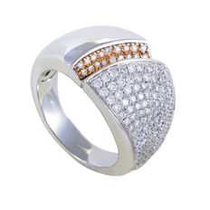 Chimento – 'Desiderio' Ring 18 kt white/yellow gold with diamonds – Ring size 17.5(55)