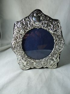 Silver photo frame, London, 1982