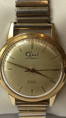Cazal automatic 25 rubies men's wristwatch - 1950s - Swiss made No reserve