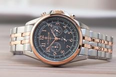 Thomas Earnshaw Commodore Chronograph – Men's wristwatch – Gold plated / steel 0121