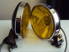 Pairs of vintage yellow headlights - FEK Halogen - 1980