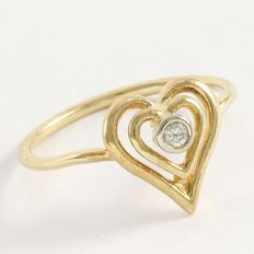 Estate 14kt Yellow Gold Ring  Set with Diamond