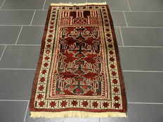 Beautiful old hand-knotted oriental carpet – Belutsch – Measurements: 87 x 150 cm – Around 1960 – Very good