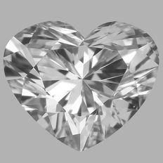 0.41 ct Heart Brilliant Diamond DVS2  -Original Image -10x- Serial# 1456