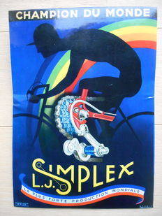 Glacoide advertising sign Simplex 'champion du monde' from ca. 1940