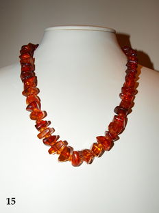 Orginal Baltic amber necklace . 39g
