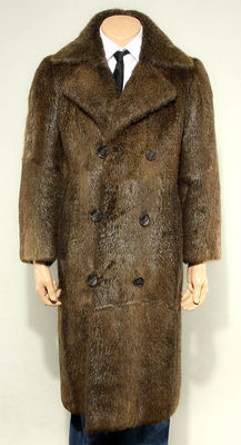Nuria men's fur coat men's coat FELL FUR COAT MAN fur coat coypu luxurious