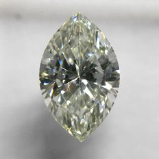 """IGI"" International Gemological Institute, Antwerp, in Sealed holder, a Natural Brilliant cut Marquise Diamond, 0,45 ct. VS1, ""I"", Top Crystal"