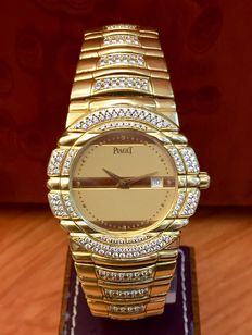 Piaget Tanagra. 18 kt gold. Diamonds Gentlemen's / Unisex watch. Year 1991.