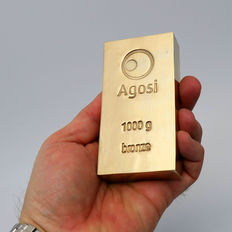 bronze bar Agosi 1 kg/ 1000 grams alternative investment metals