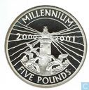 "Alderney 5 pounds 2000 (PROOF) ""Millennium"""