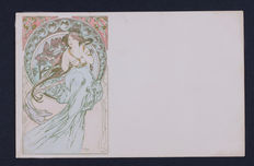 A. Mucha -The arts - C. 1900 - 3 Original postcards