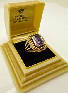 "Rare antique Napoleon III 18kt gold ""Amethyst beauty."" ring - NO RESERVE"