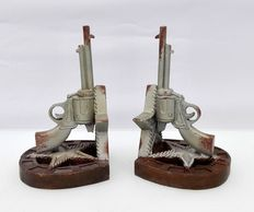 Pair of Western bookends