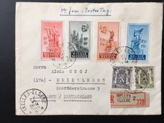Belguim 1946/1948 - 17 letters with FDC Anseele Michel 824/827