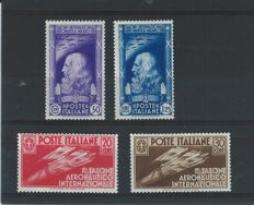 Italie 1935 Internationale Luftverkehrsausstelling Mailand Sassonenrs: 384/387