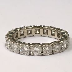 Witgouden alliance ring met 18 briljantgeslepen diamanten - 2.70 Ct