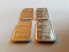 4 silver bars - Drijfhout for AMRO Bank - 4 x 10 grams