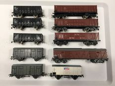 Piko H0 - 10 various open back carriages and closed carriages