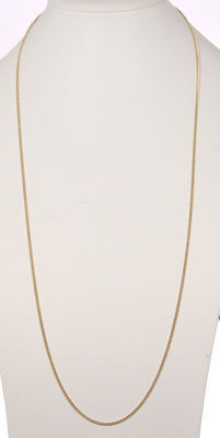 Gold curb link necklace, solid edition