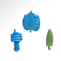 Three Egyptian Amarna Amulets, 2 cm L - 2.1 cm L and 1.9 cm L