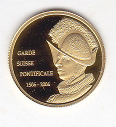 "Democratic Republic of the Congo - 20 Francs 2006 ""Garde Suisse Pontificale 1506-2006"" - Gold"
