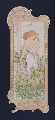 Alphonse Mucha - The Flowers - original lithograph in colour