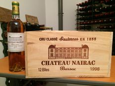 1998 Château Nairac, 2nd Growth of Sauternes/Barsac - 12 bottles