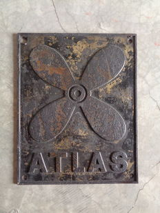 Old plate from a ship called ATLAS