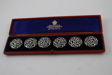 3 sets of boxed sterling silver buttons - each set with 6 buttons, 18 buttons in total, ca. 1900