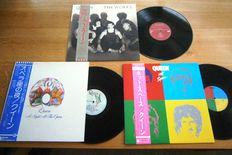 3 Very Collectable Japanese Items of Queen: 1. Hot Space P-11204  1982 2. A Night At The Opera P-10075E 1975 3. The Works EMS-91076 1984