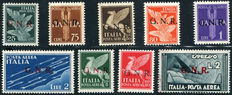 Italian Social Republic - 1944 - Airmail with overprinting, GNR of Verona Sassone no.: 117/25