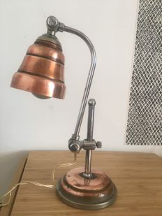 Unkown designer -  Copper Desk lamp, Articulated.