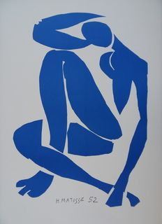 Henri Matisse (after) - Nu bleu pensif