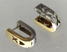 14 kt Gold and White gold earrings
