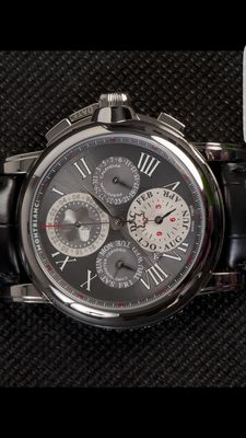 Montblanc – Perpetual Calendar, Chrono GMT 100th anniversary Montblanc limited edition, number 1/100 – Men's timepiece – 2006