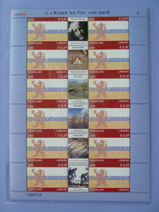 The Netherlands 1965/2002 - Stamp sheets with, among others, provincial sheets