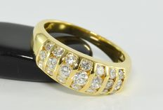 1.04 ct diamond ring in 18 kt gold * no reserve *