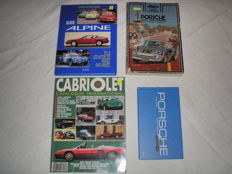 Lot of 4 automotive books - 2 x Porsche / Alpine / 90s convertibles