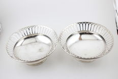 Two Large silver bon bon dishes - Sheffield - England - 1910