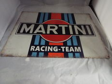 Martini Racing Team, 141 Vintage Garage Advertising Drink, Large Metal/Tin Sign 21century