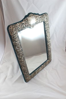 Large Mirror decorated with silver borders, Chester, James Deakin & Sons, possibly M for 1912